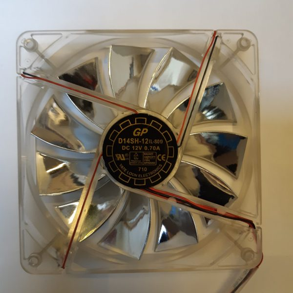 فن 14*14*2.5 12 ولت LED دار